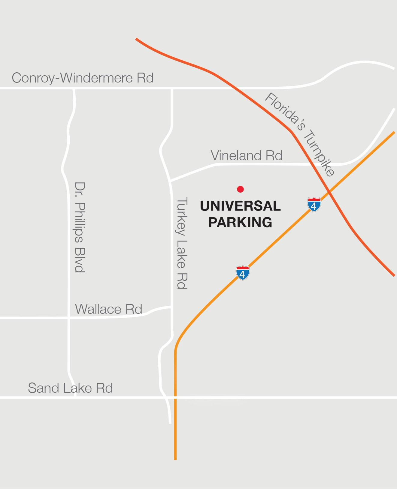 General Parking Map - Arnold Palmer Invitational